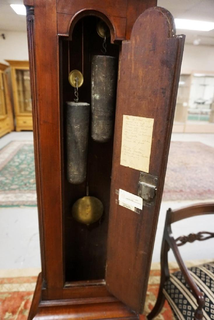 CHRISTIAN BIXLER TALL CASE CLOCK #338. - 3