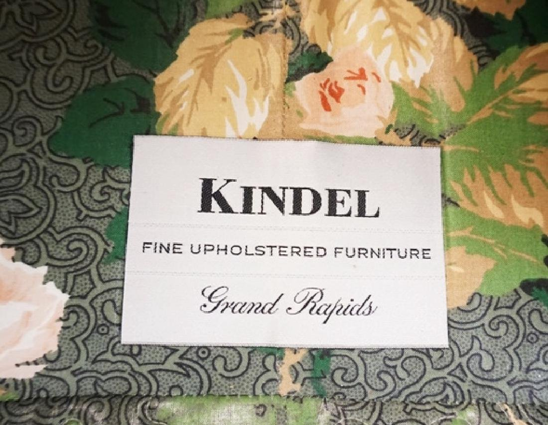 KINDEL SOFA IN ROSE UPHOLSTERY. 27 INCHES HIGH. 64 - 3