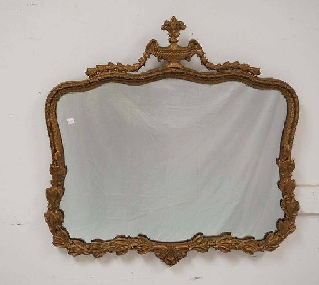 GOLD GILT MIRROR MEASURING 32 X 32 INCHES.