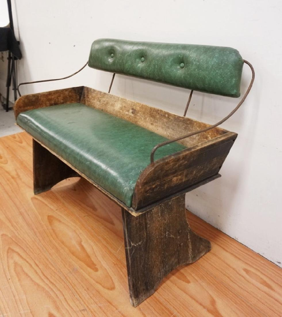ANTIQUE BUGGY SEAT. 38 INCHES WIDE. - 2