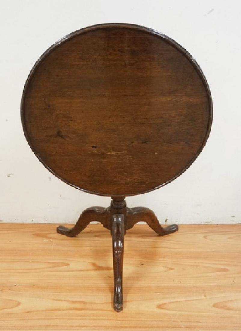 ANTIQUE OAK TILT TOP TABLE. 24 INCHES HIGH. 26 INCH