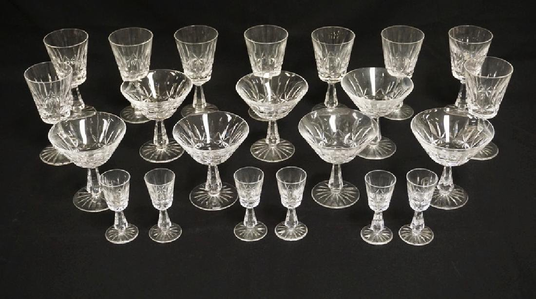 22 PIECES OF WATERFORD CRYSTAL STEMWARE. TALLEST PIECES
