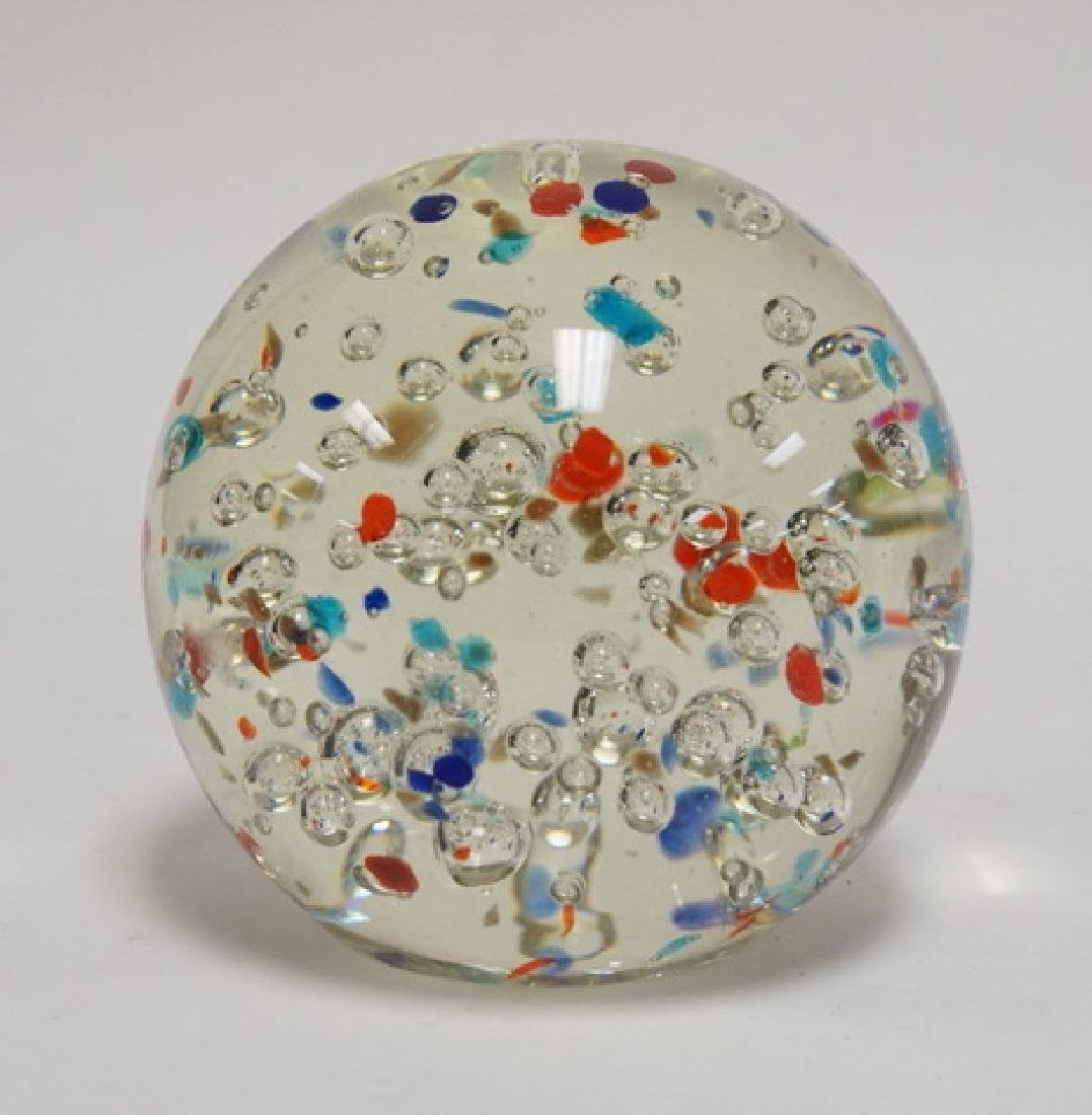 ART GLASS MAGNUM PAPERWEIGHT INTERNALLY DECORATED WITH