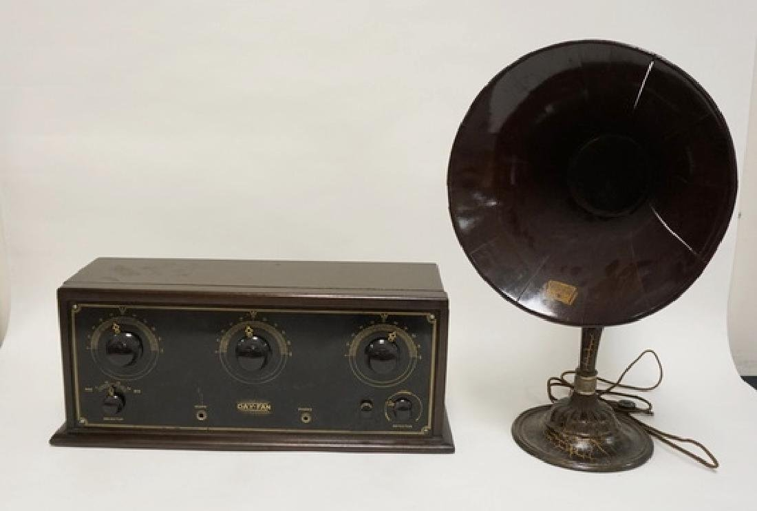 ANTIQUE DAY-FAN TUBE RADIO WITH A MUSIC MASTER