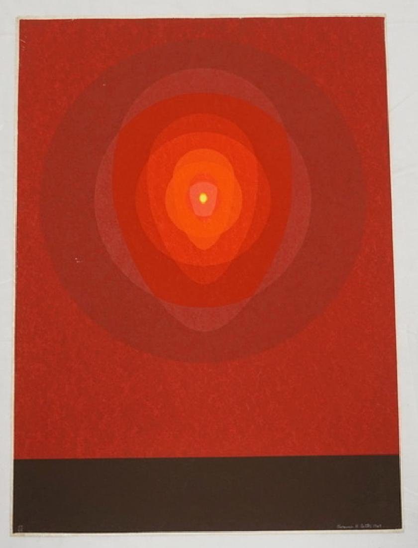 CLARENCE H. CARTER SCREENPRINT. EDITION #59/64. 22 X 30
