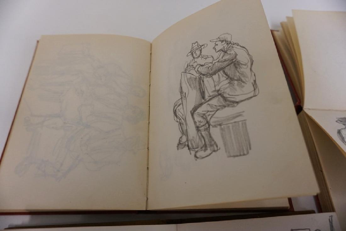 LOT OF 4 SKETCH BOOKS OF WILLIAM SHARP. WILLIAM SHARP - 10