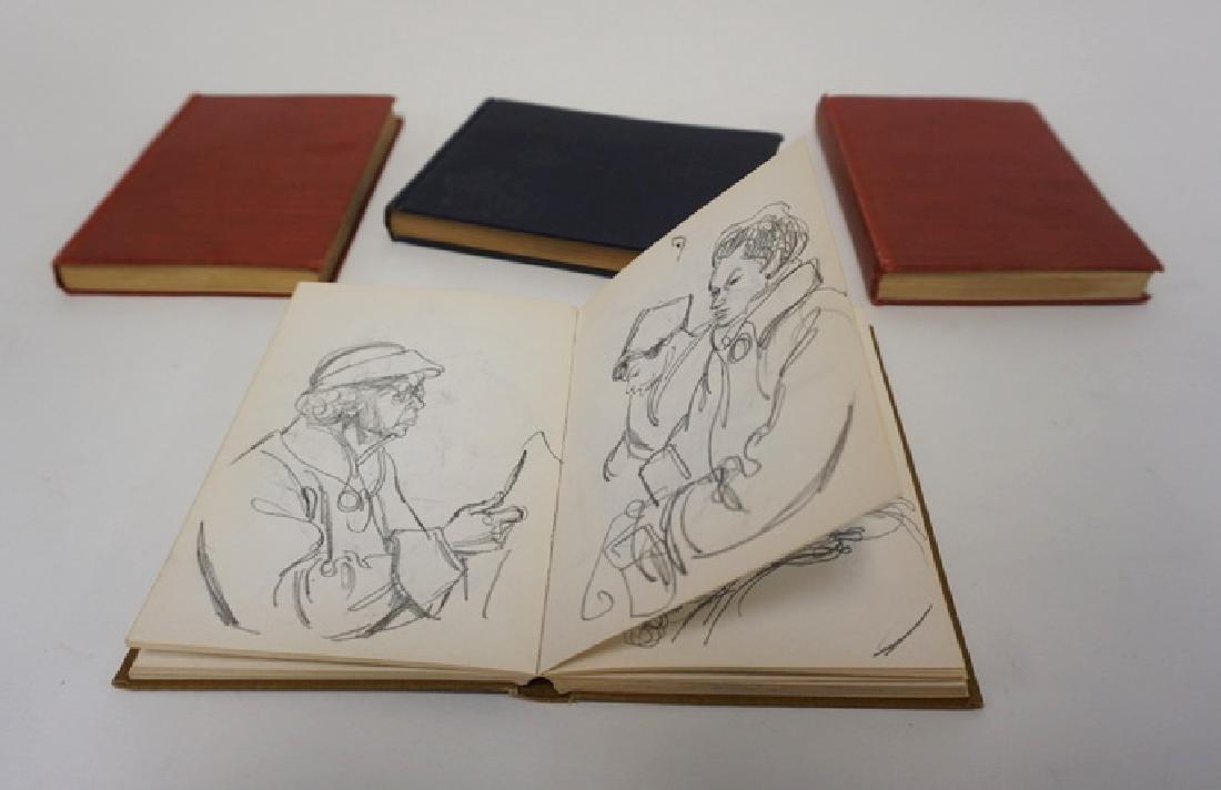 LOT OF 4 SKETCH BOOKS OF WILLIAM SHARP. WILLIAM SHARP
