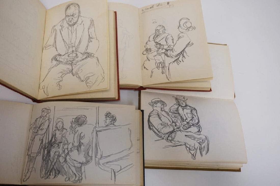 LOT OF 4 SKETCH BOOKS OF WILLIAM SHARP. WILLIAM SHARP - 2