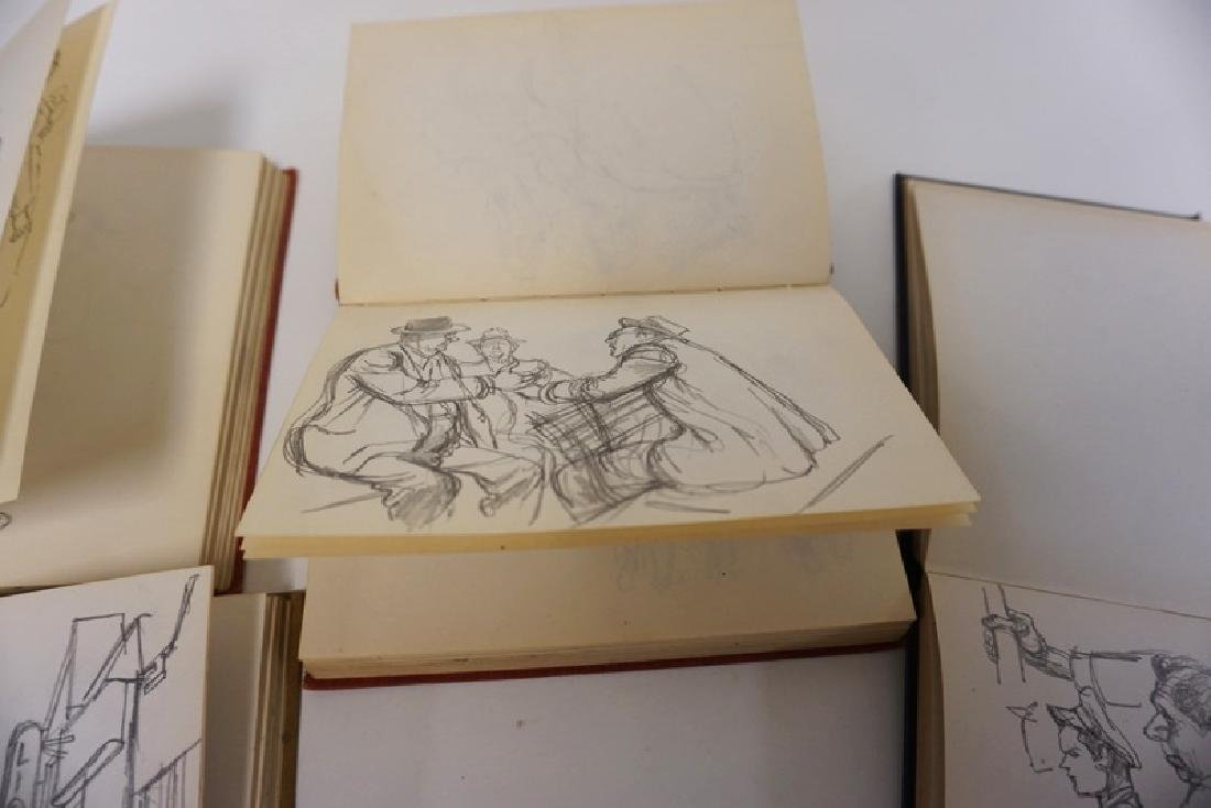 LOT OF 4 SKETCH BOOKS OF WILLIAM SHARP. WILLIAM SHARP - 9