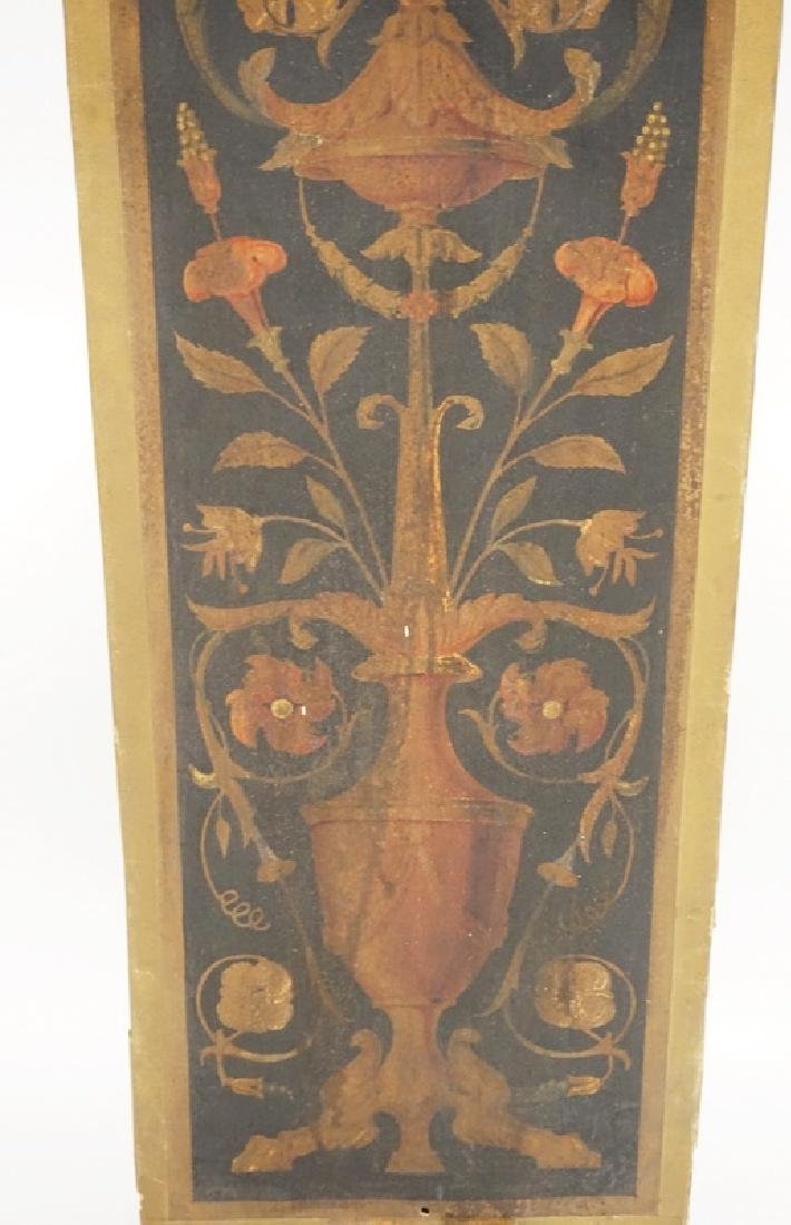 19TH CENTURY PANEL CONSISTING OF FLOWERING URNS PAINTED - 3