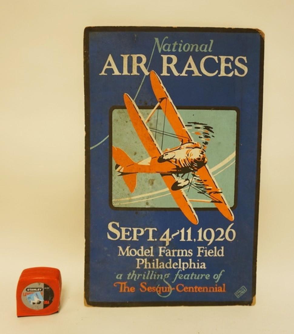 ORIGINAL 1926 NATIONAL AIR RACES BROADSIDE. SEPT. 4-11,