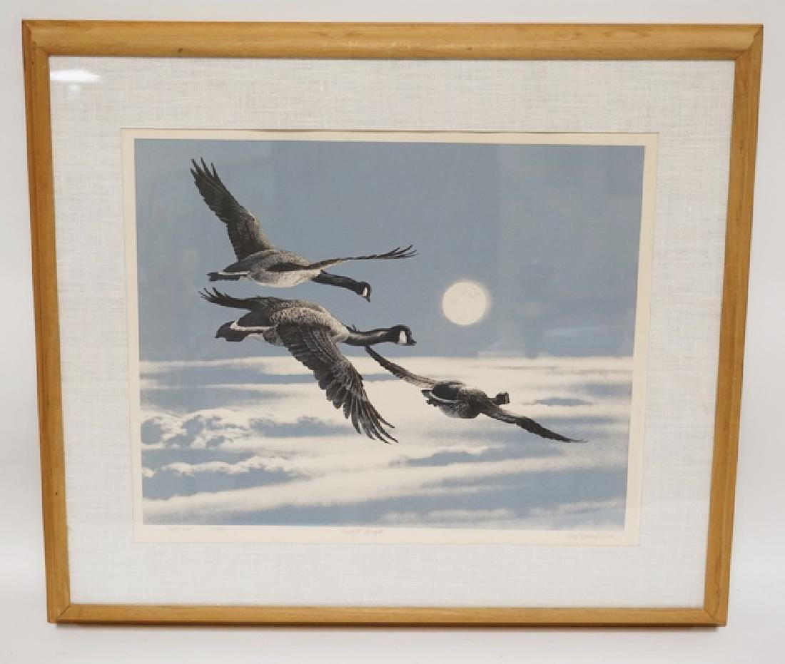 PENCIL SIGNED LIMITED EDITION DUCK PRINT TITLED *NIGHT