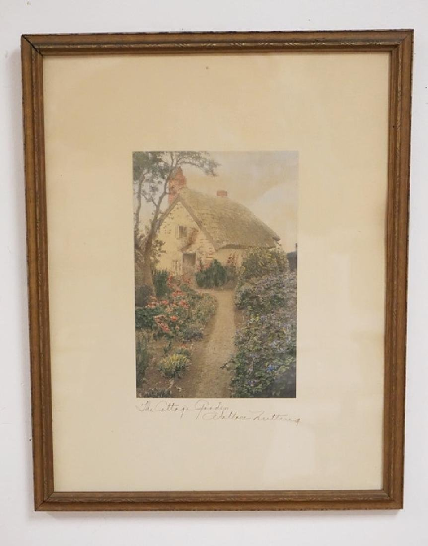WALLACE NUTTING *THE COTTAGE GARDEN* HAND COLORED
