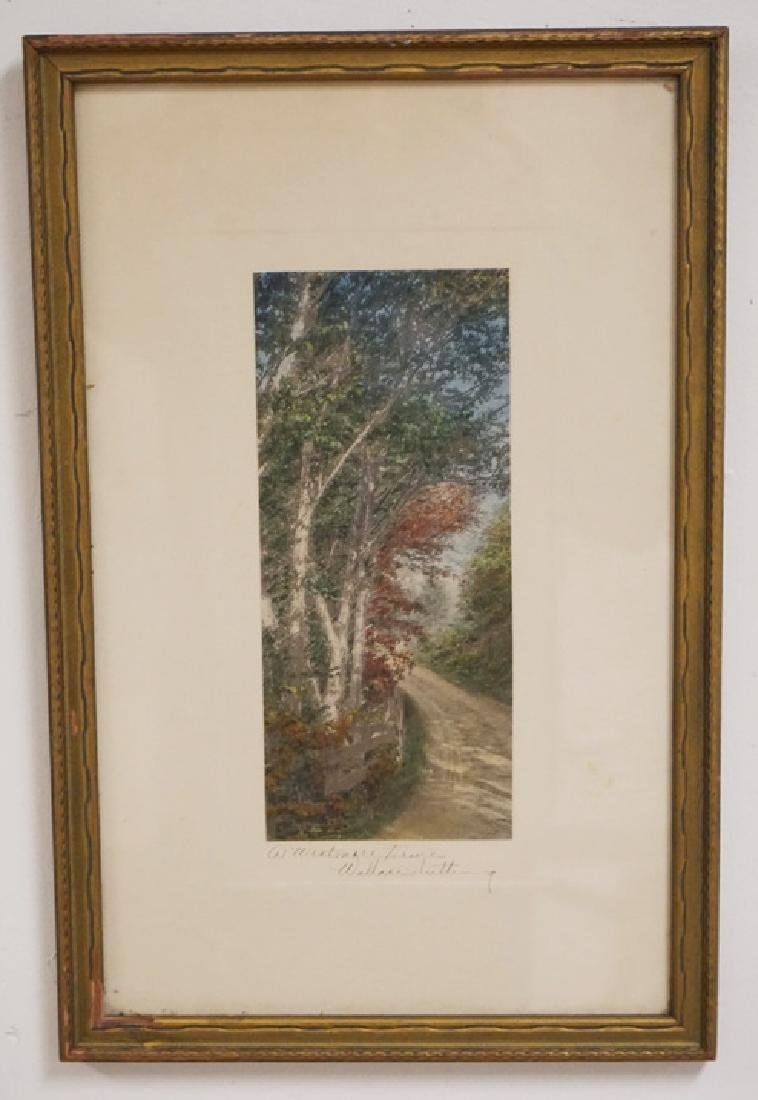 WALLACE NUTTING *A WESTMORE DRIVE* HAND COLORED PRINT.