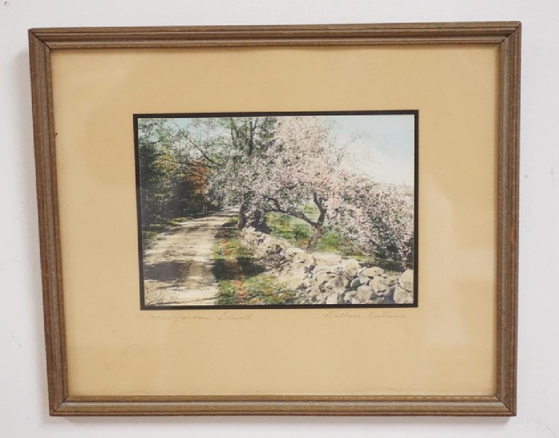 WALLACE NUTTING *HONEYMOON STROLL* HAND COLORED PRINT.