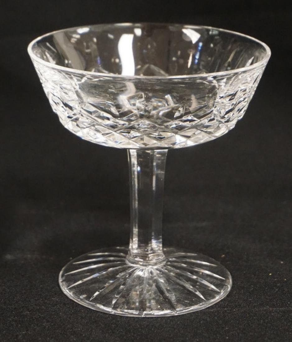 SET OF 6 WATERFORD CRYSTAL CHAMPAGNES. 4 1/8 INCHES - 2