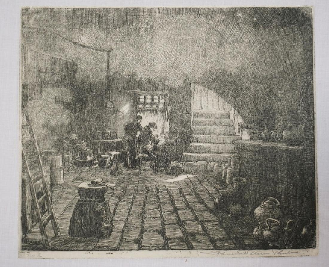 FRANCIS PETTUS PAULUS (1862-1933) ETCHING OF TWO