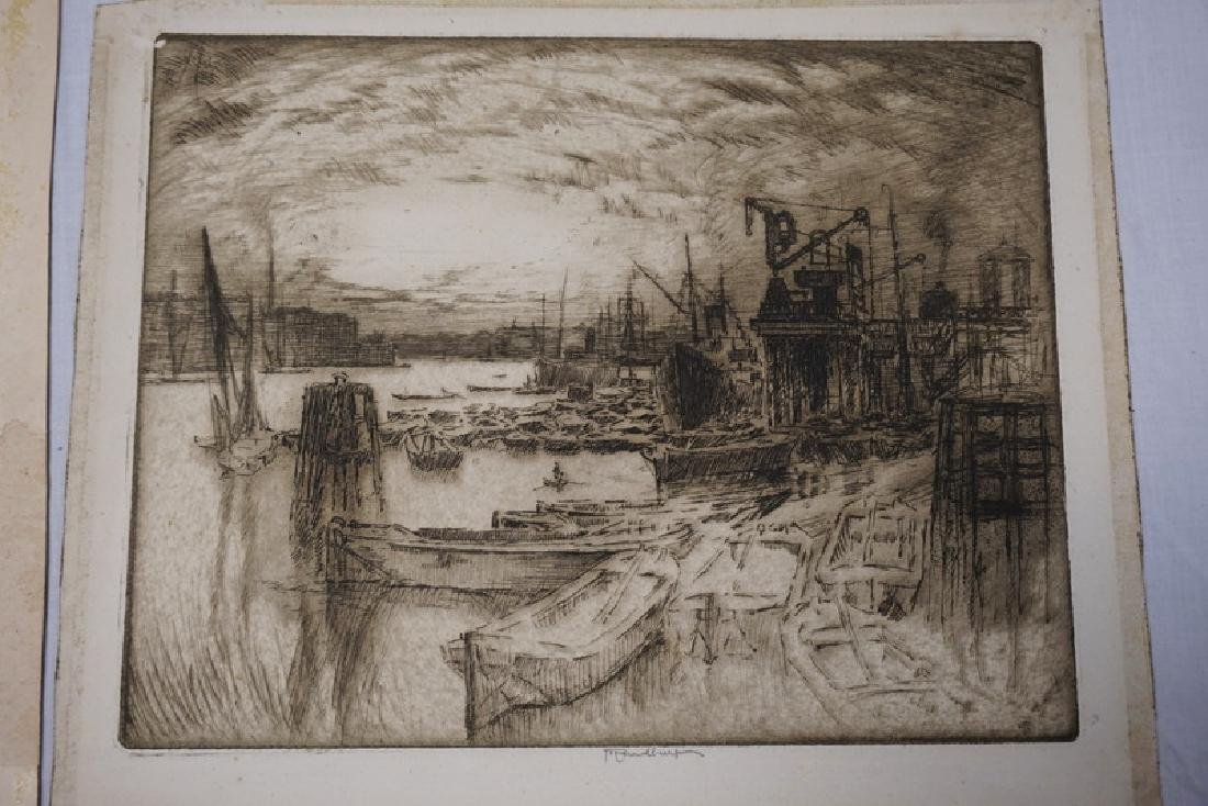 2 JOSEPH PENNELL ETCHINGS. PENCIL SIGNED. ONE INTERIOR - 2