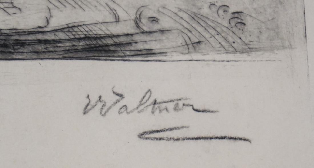CHARLES ALBERT WALTNER ETCHING. 16 1/4 X 12 INCH IMAGE. - 2