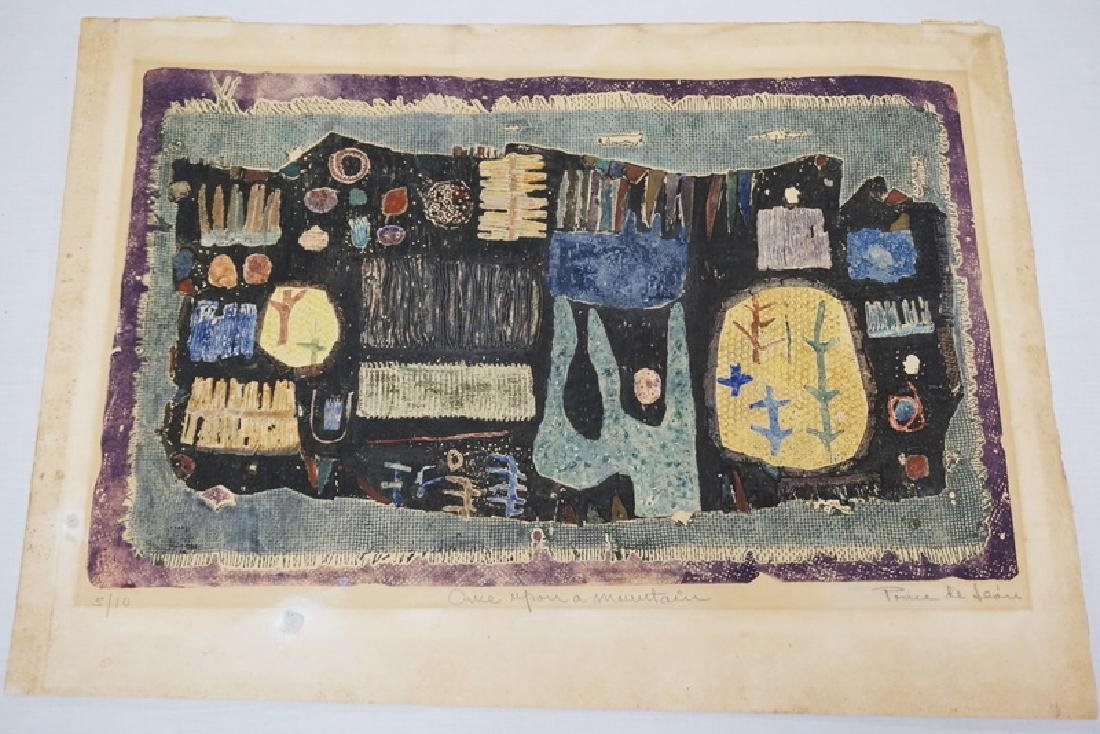 MICHAEL PONCE DE LEON LIMITED EDITION ABSTRACT LITHO.