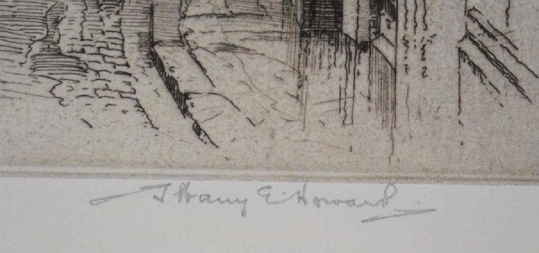 ALBANY E. HOWARTH ETCHING TITLED *STREET IN TOLEDO*. 8 - 2
