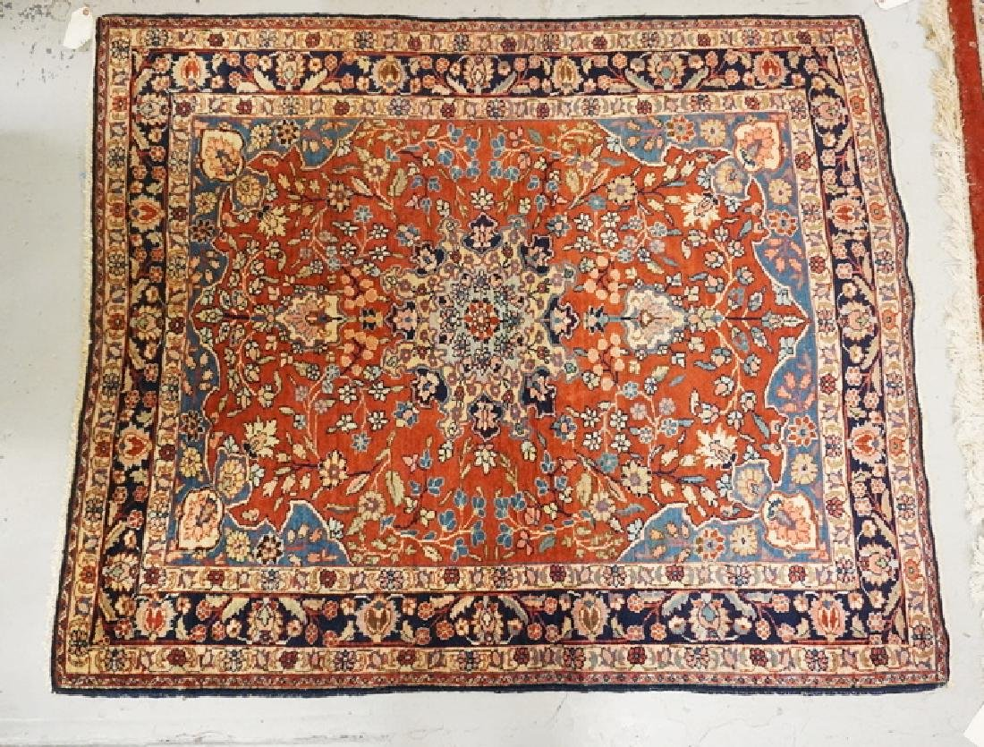 HAND WOVEN ORIENTAL AREA RUG MEASURING 5 FT 6 X 4 FT 6