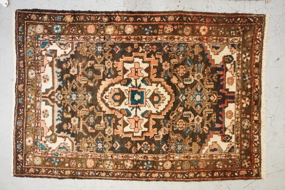 HAND WOVEN ORIENTAL THROW RUG MEASURING 5 FT 1 X 3 FT 6