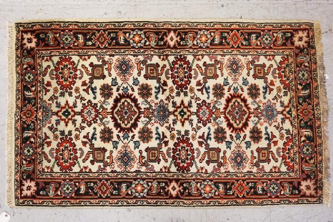 HAND WOVEN ORIENTAL THROW RUG 4 FT 11 X 3 FEET.