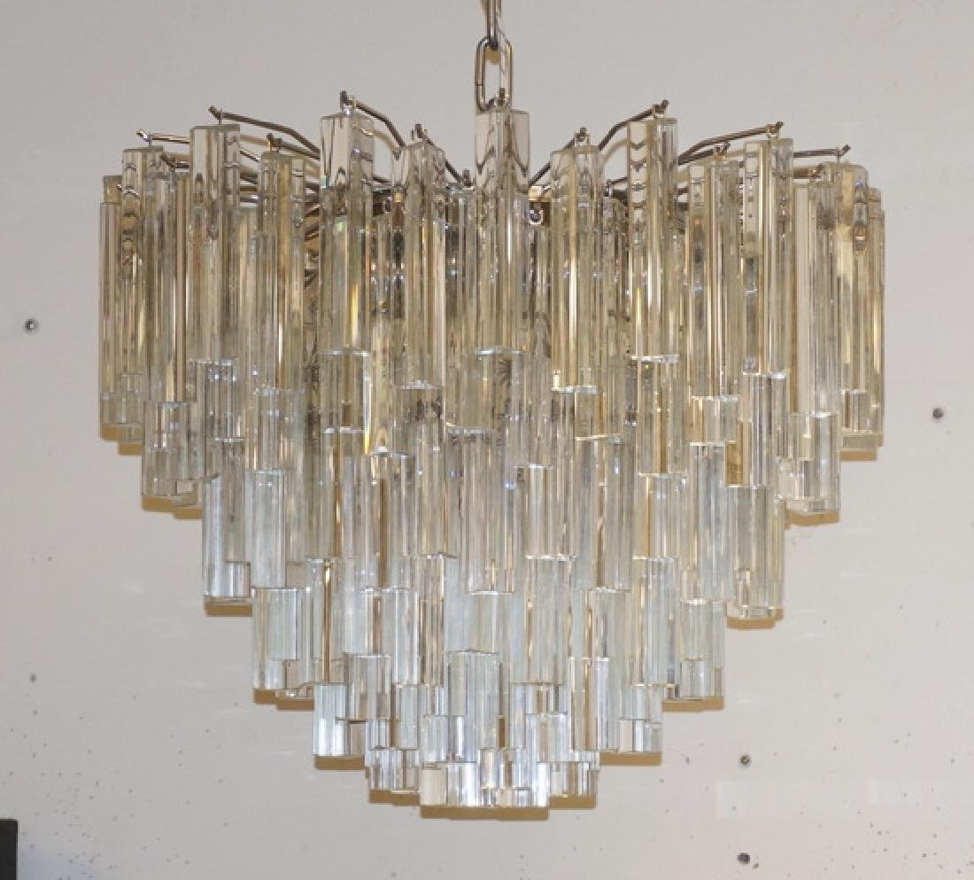 MODERN GLASS CHANDELIER WITHGRANDUATING TIERS OF