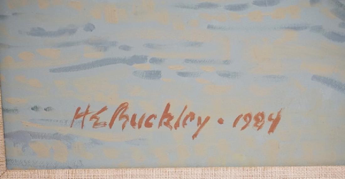 HARRY E. BUCKLEY OIL PAINTING ON BOARD TITLED *VENETIAN - 2