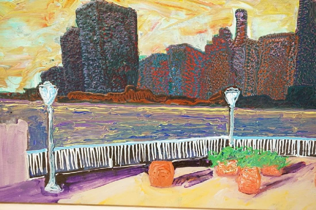 CHAM HENDON (1936-2014) PAINTING ON CANVAS OF THE NEW - 3