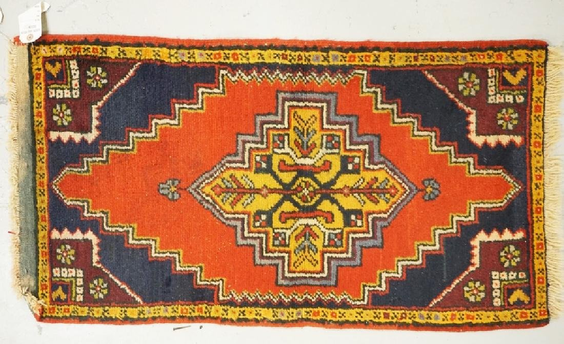 HAND WOVEN ORIENTAL RUG MEASURING 3 FT 1 INCHES X 1 FT