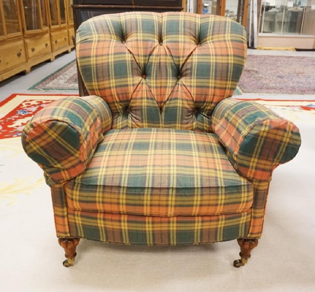 MARK HAMPTON BY HICKORY CHAIR UPHOLSTERED LOUNGE CHAIR