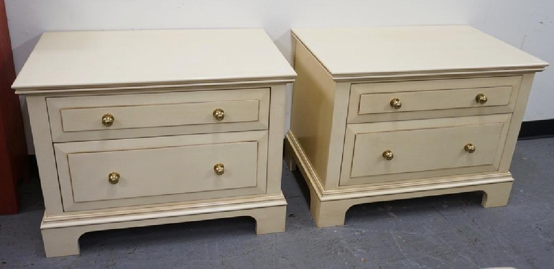PAIR OF 2 DRAWER CHESTS MADE BY *CREATIVE WOODCRAFT*.