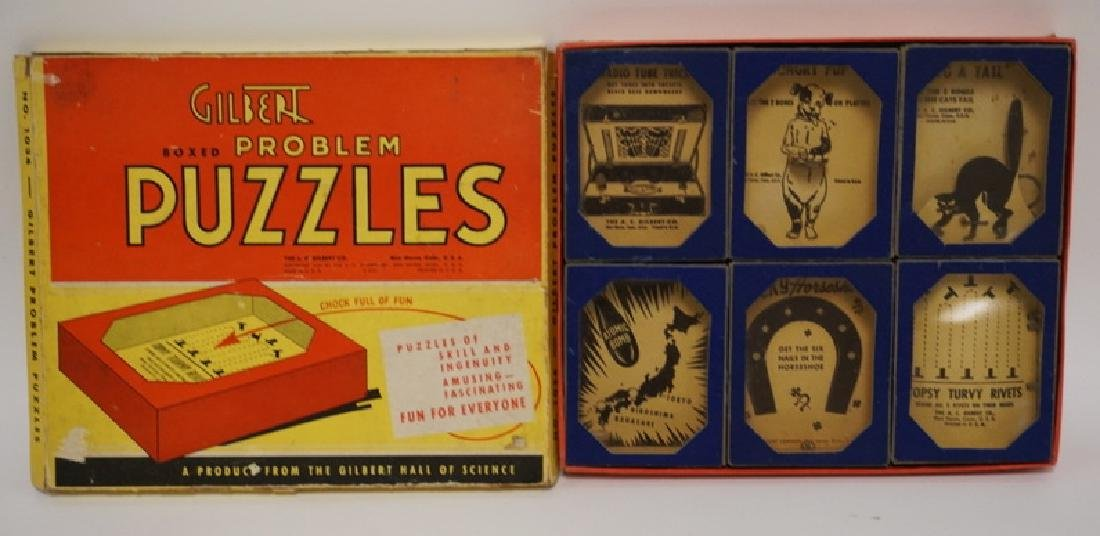 VINTAGE 1940'S GILBERT BOXED PROBLEM PUZZLES #1034