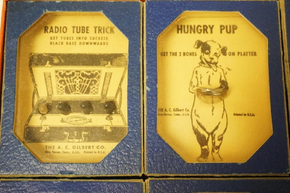 VINTAGE 1940'S GILBERT BOXED PROBLEM PUZZLES #1034 - 3