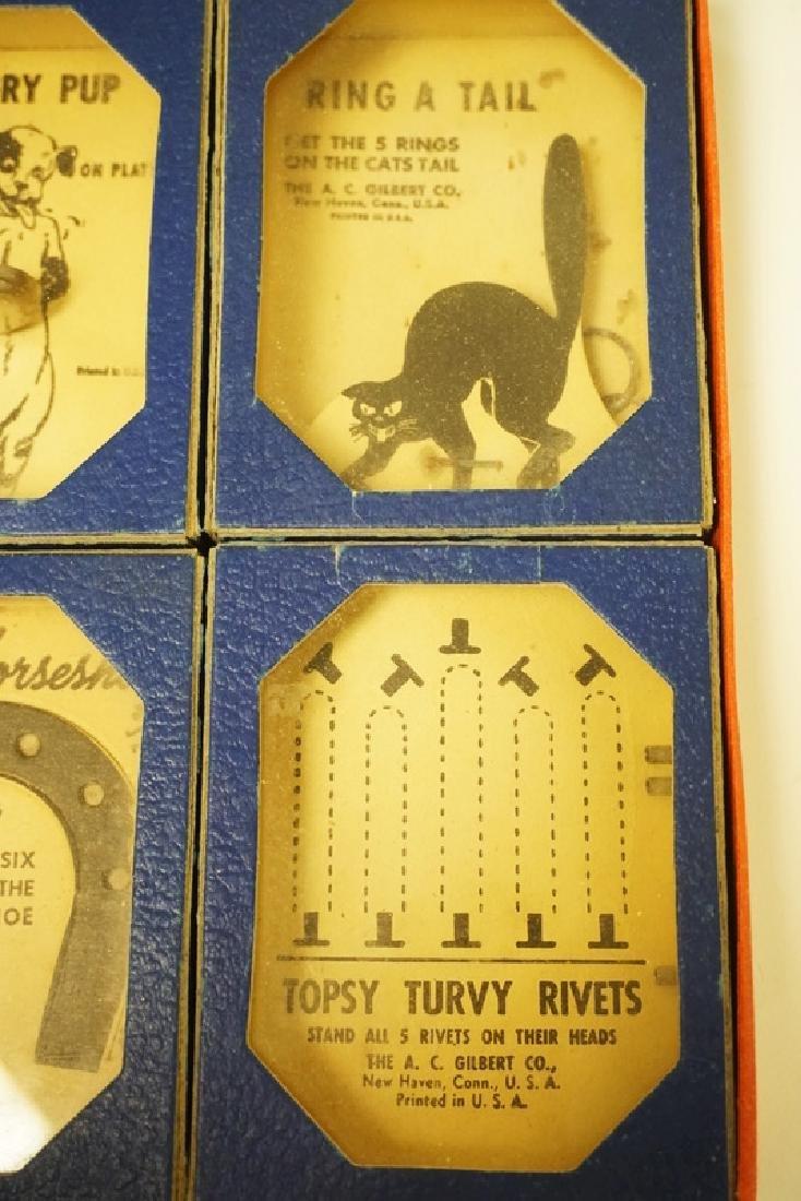 VINTAGE 1940'S GILBERT BOXED PROBLEM PUZZLES #1034 - 4