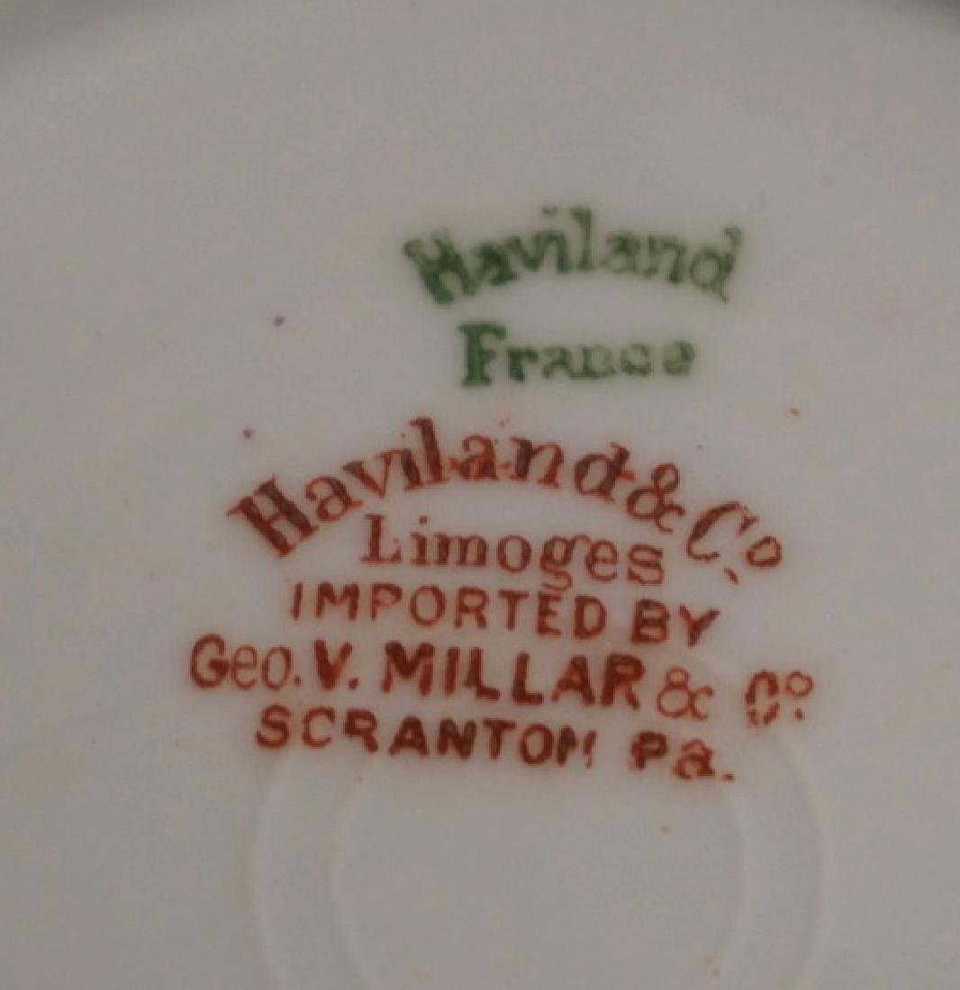 HAVILAND LIMOGES CHOCOLATE POT WITH 6 CUPS AND SAUCERS. - 4
