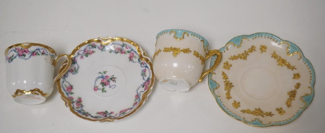 LOT OF 13 CUP AND SAUCER SETS. LIMOGES, DRESDEN, ETC. - 6