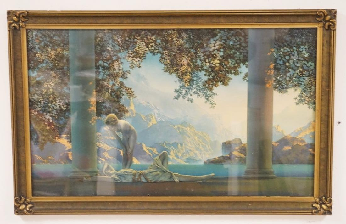 MAXFIELD PARRISH LARGE DAYBREAK IN A NICE ORIGINAL