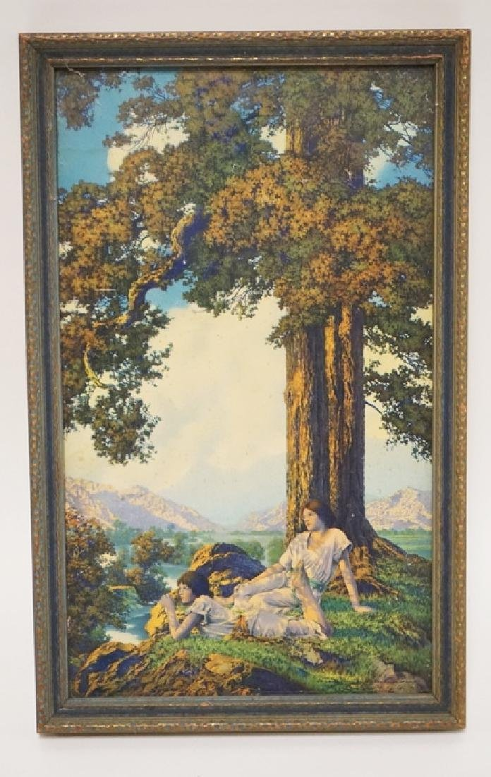 MAXFIELD PARRISH SMALL HILLTOP. ORIGINAL FRAME. 6 IN X
