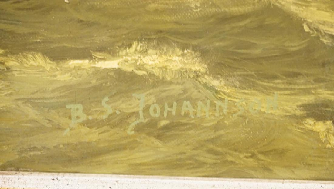 B.S. JOHANNSON OIL PAINTING ON CANVAS OVER BOARD OF A - 2