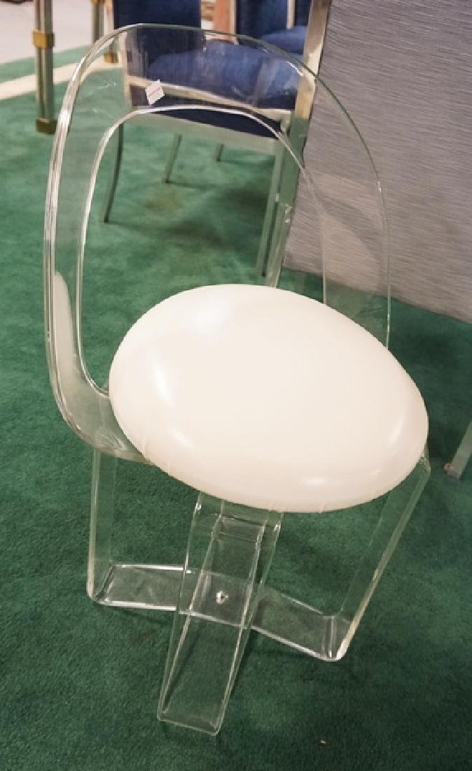 LUCITE VANITY CHAIR. - 2
