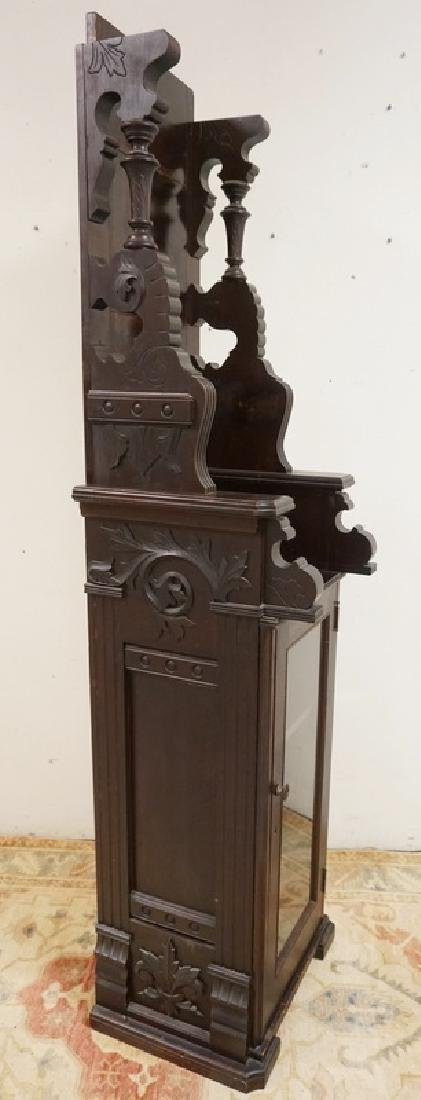 CUSTOM MADE CARVED VICTORIAN DISPLAY CABINET WITH - 2
