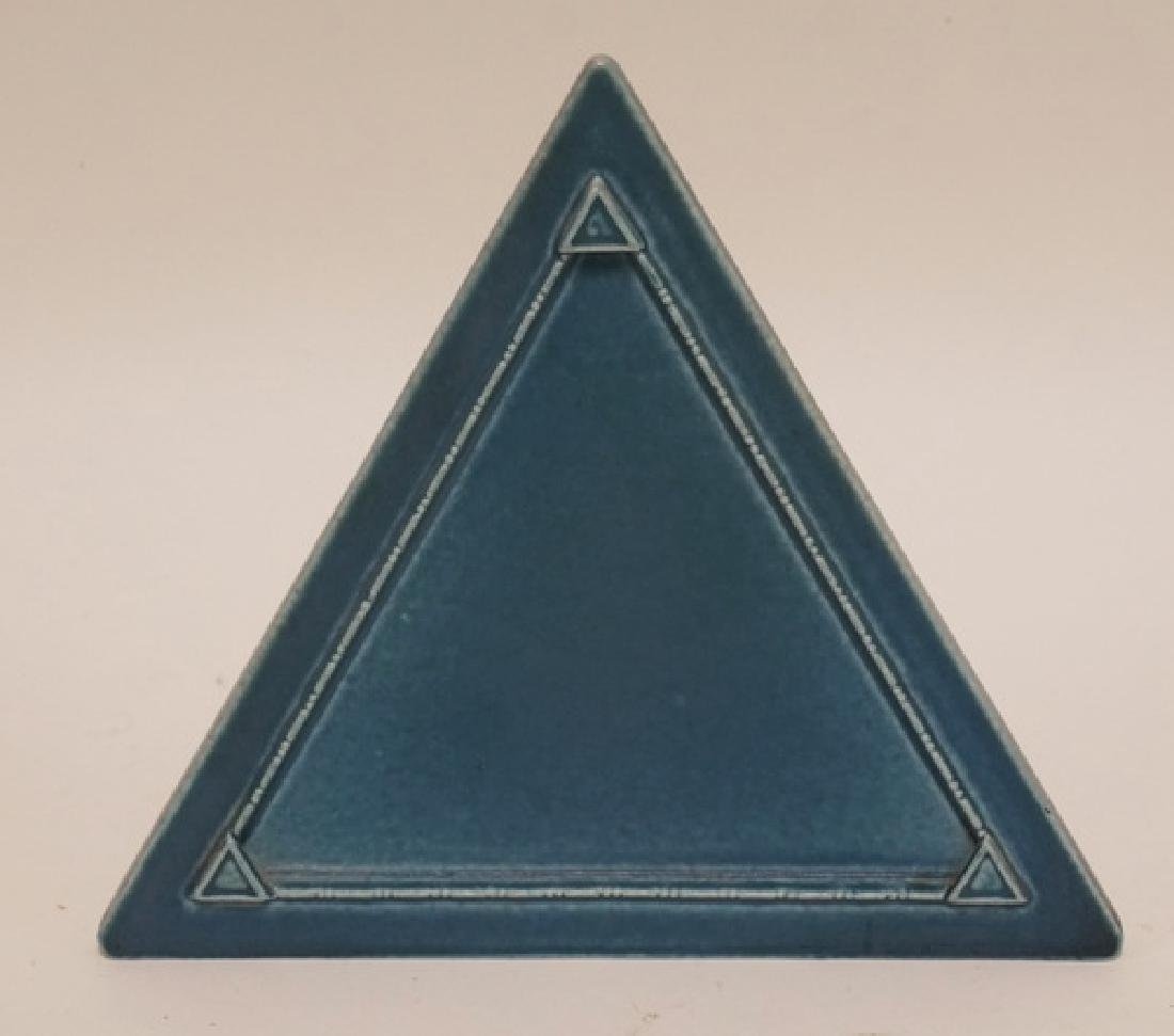 ROOKWOOD POTTERY TRIANGULAR FRAME MEASURING 6 1/2