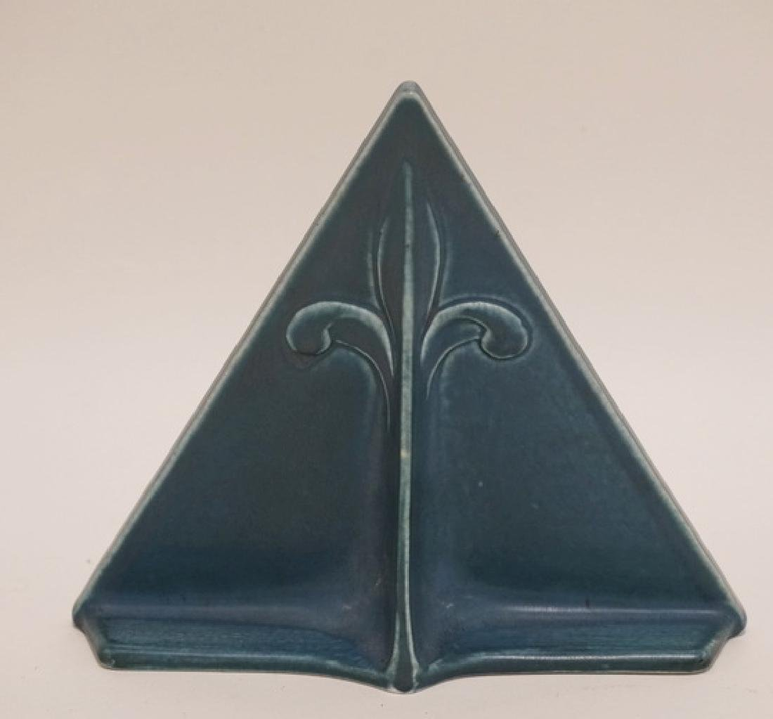 ROOKWOOD POTTERY TRIANGULAR FRAME MEASURING 6 1/2 - 2