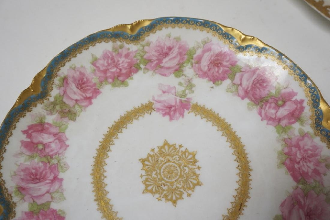 LOT OF 7 HAND PAINTED LIMOGES PORCELAIN PLATES. LARGEST - 4