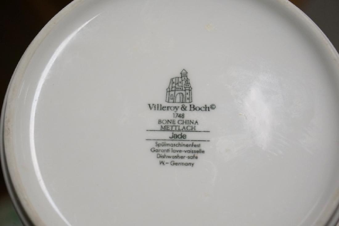 76 PIECE VILLEROY & BOCH *JADE* DINNERWARE SET. 18 3/4 - 3
