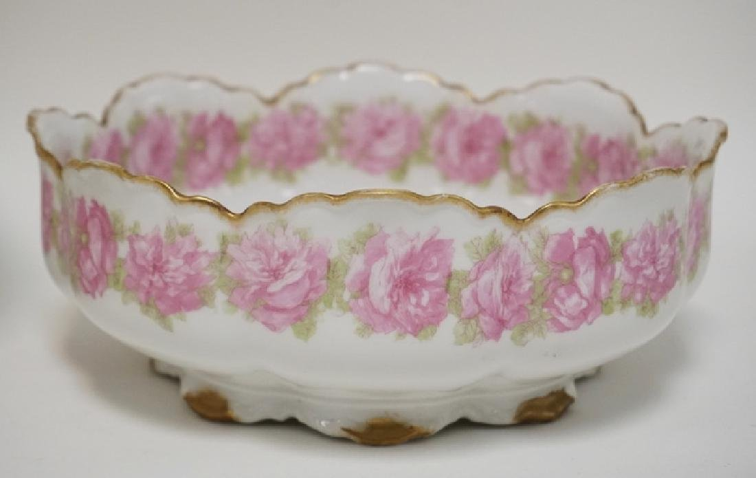 LOT OF 3 HAND PAINTED LIMOGES PORCELAIN BOWLS. THE - 2