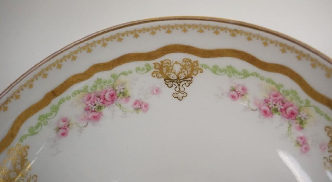 LOT OF 3 HAND PAINTED LIMOGES PORCELAIN BOWLS. THE - 3
